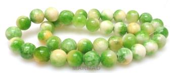 Aragonit mozaikowy - kula 10mm - zielony