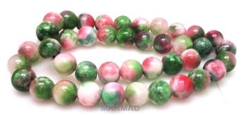 Aragonit mozaikowy - kula 10mm - różowo zielony